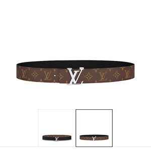 LV initialies monogram reversible belt